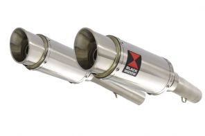 SL1000 Falco 99-05 Exhaust Silencers 200mm Round Stainless